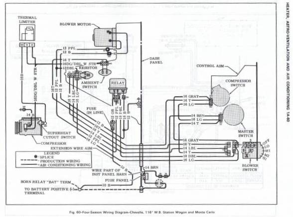 chevelle malibu heater wiring diagram
